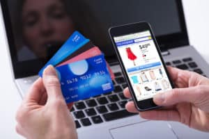 Making a purchase on an eCommerce website